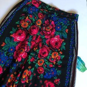 Zara wide leg crop pants